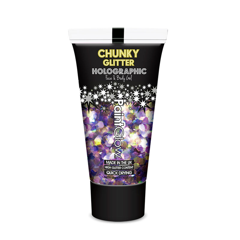 PaintGlow Unicorn Tears Chunky Glitter Cosmetic Face and Body Gel