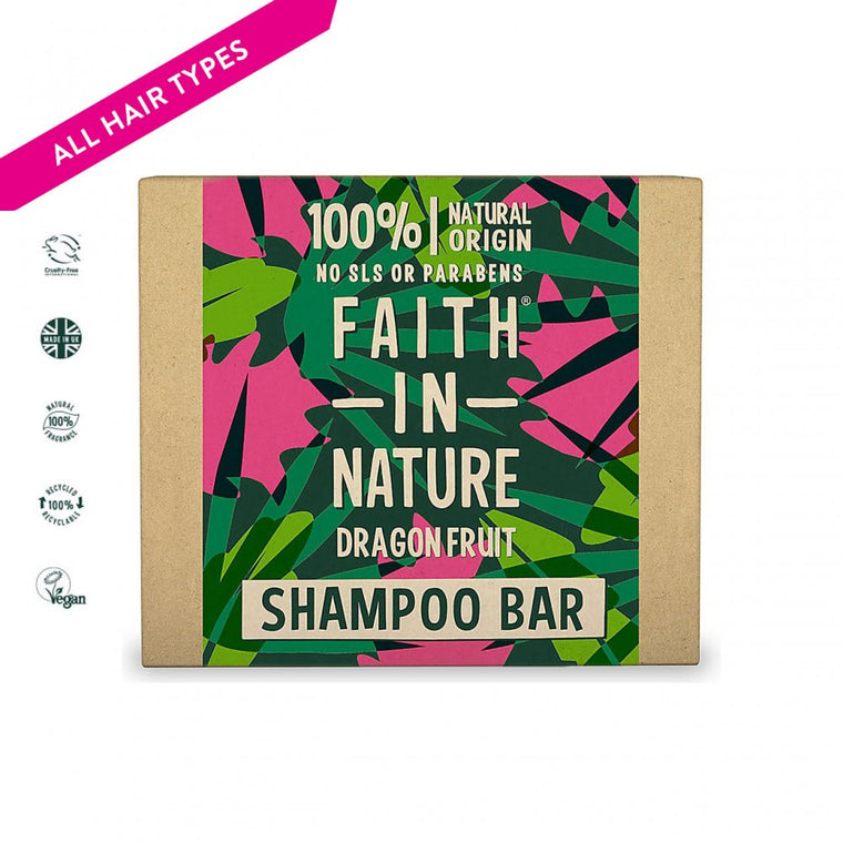 Faith in Nature Dragon Fruit Shampoo Bar, 85g
