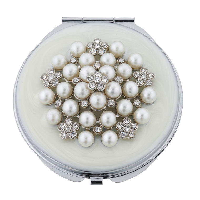Fancy Metal Goods Compact Crystals & Pearls