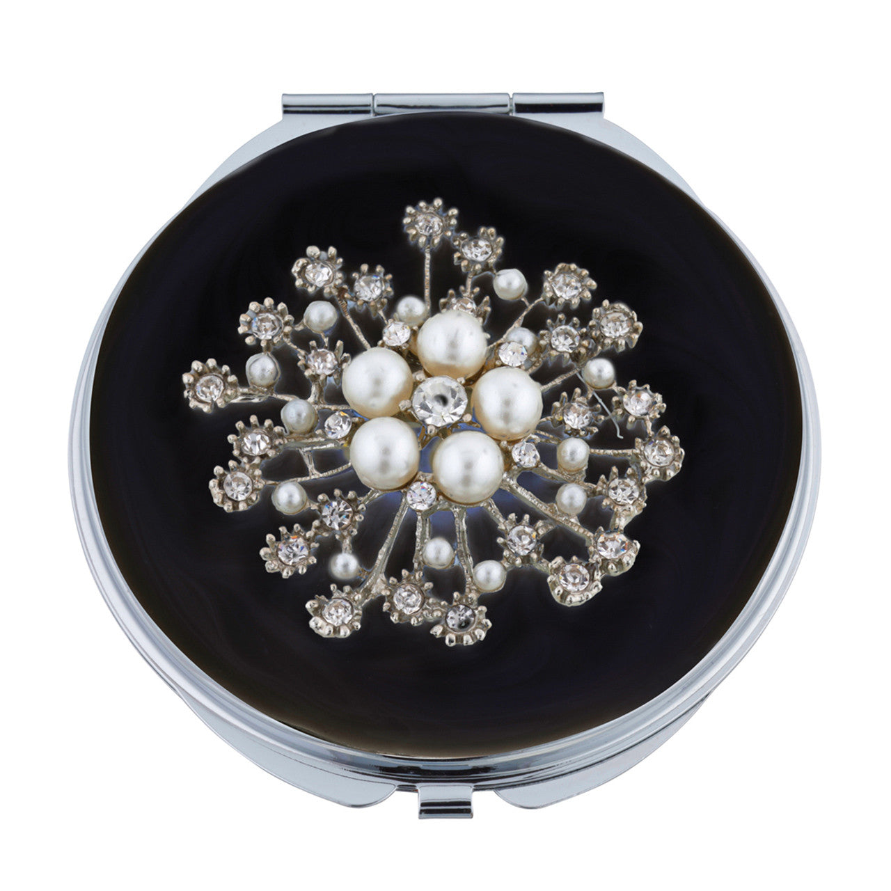 Pearl & Crystal Mirror Compact