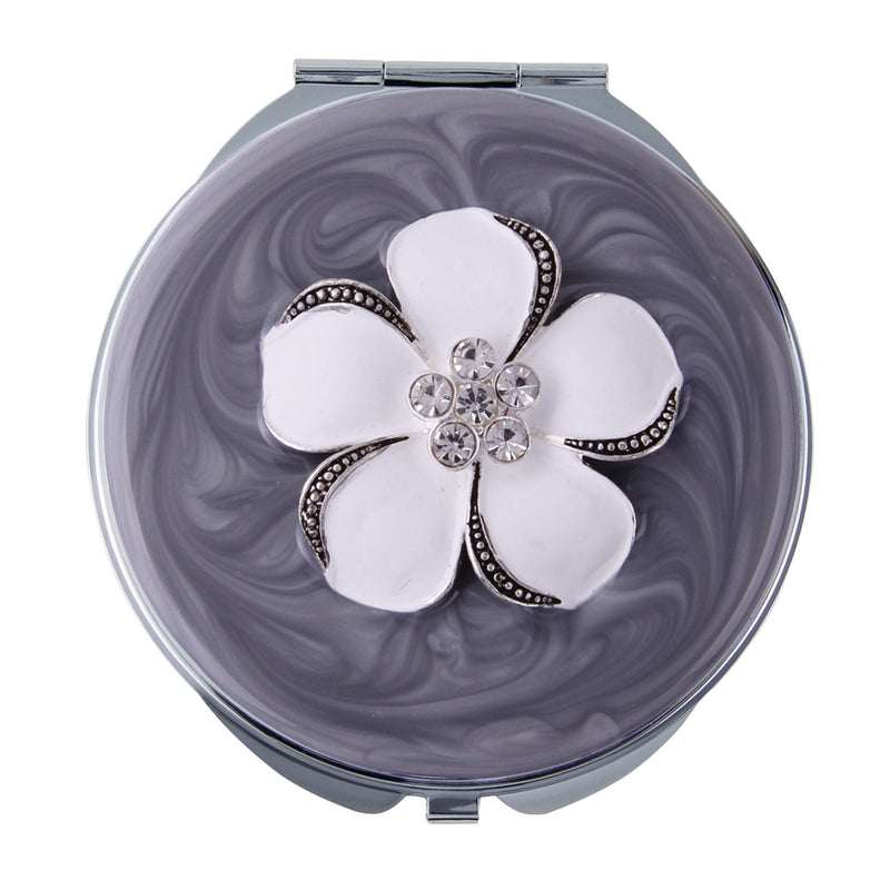White Flower Grey Compact