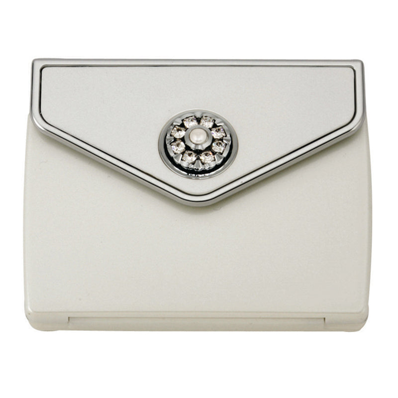 Fancy Metal Goods Pearl & Crystal Compact - Envelope