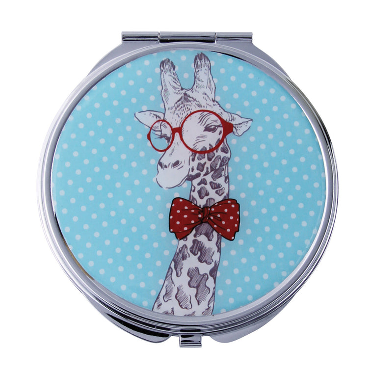 Fancy Metal Goods Giraffe Mirror Compact