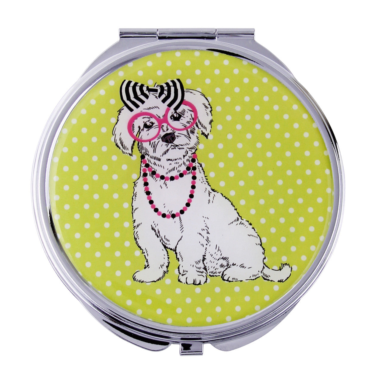 Fancy Metal Goods Terrier Mirror Compact