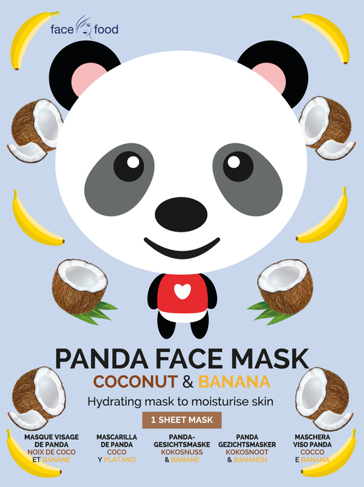 Face Food Panda Face Sheet Mask Coconut and Banana Hydrating Mask To Moisturise Skin