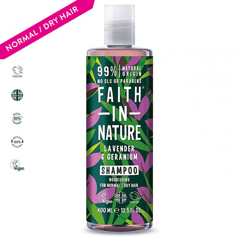 Faith in Nature Lavender & Geranium Shampoo, 400ml