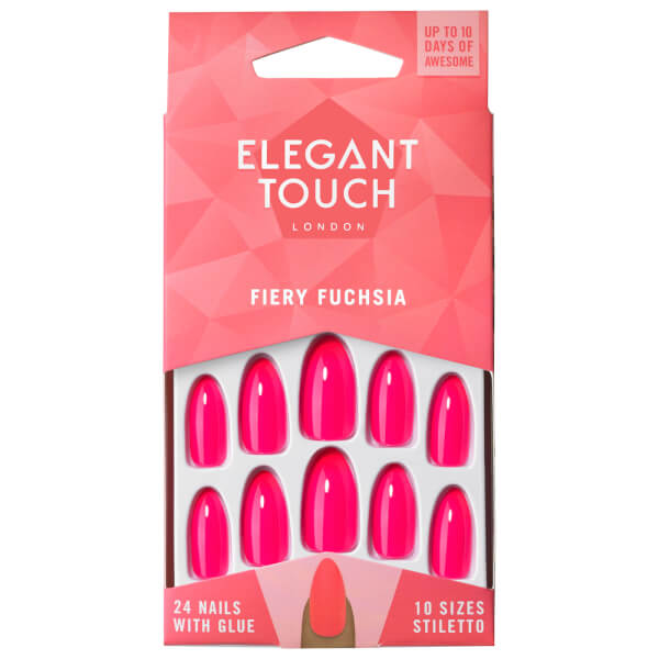 Elegant Touch Coloured Nails - Fiery Fuchsia