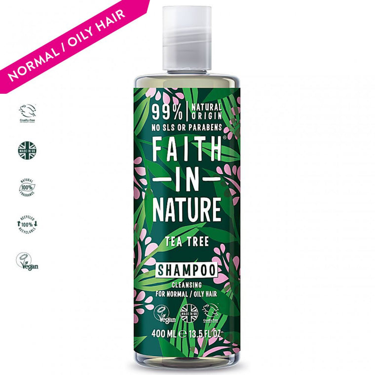 Faith in Nature Tea Tree Natural Shampoo, 400ml
