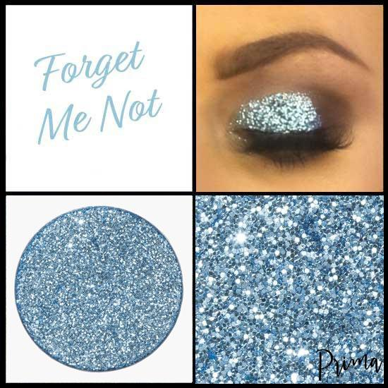 Prima Makeup Pressed Glitter Eyeshadows Baby Blue - Forget Me Not