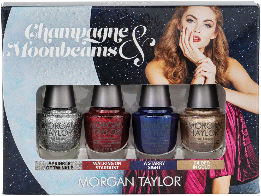 Morgan Taylor Champagne and Moonbeams Glam 4 Bottle Mini Pack