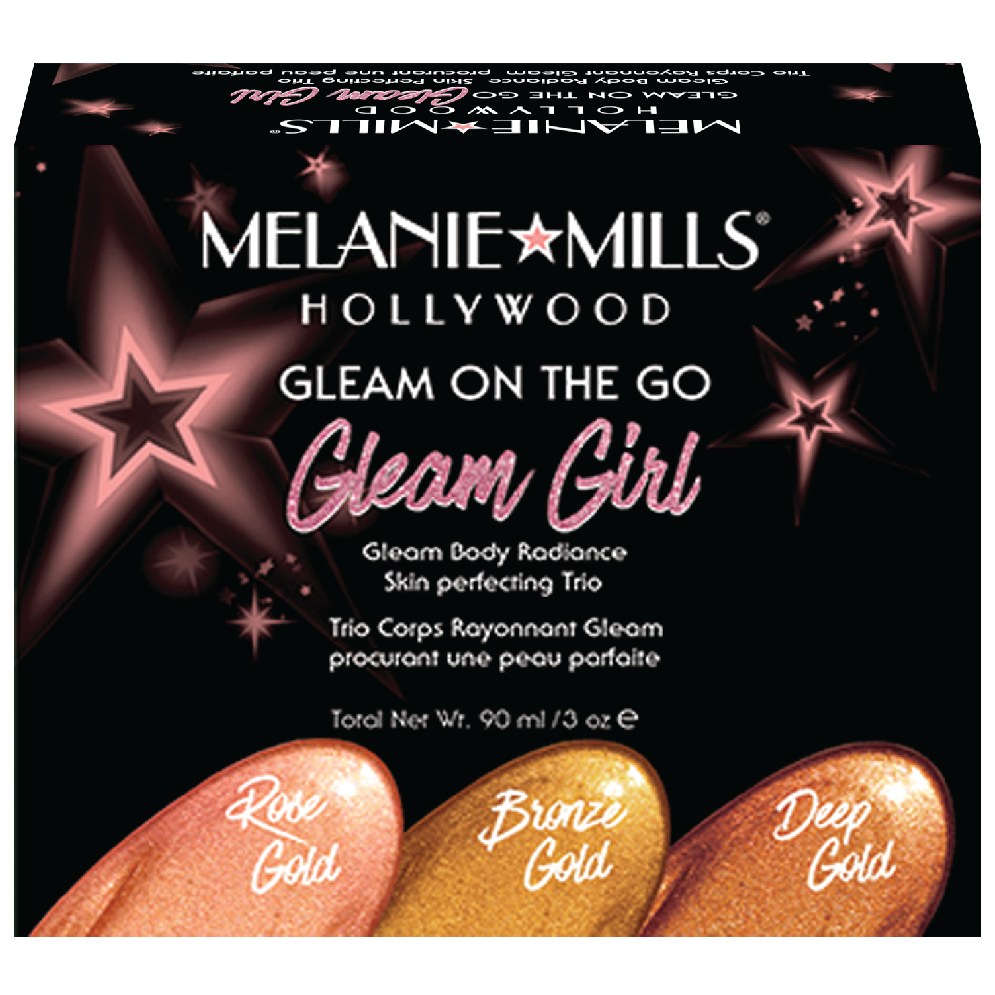 Melanie Mills Hollywood GLEAM GIRL Gleam on the Go Body Radiance Kit