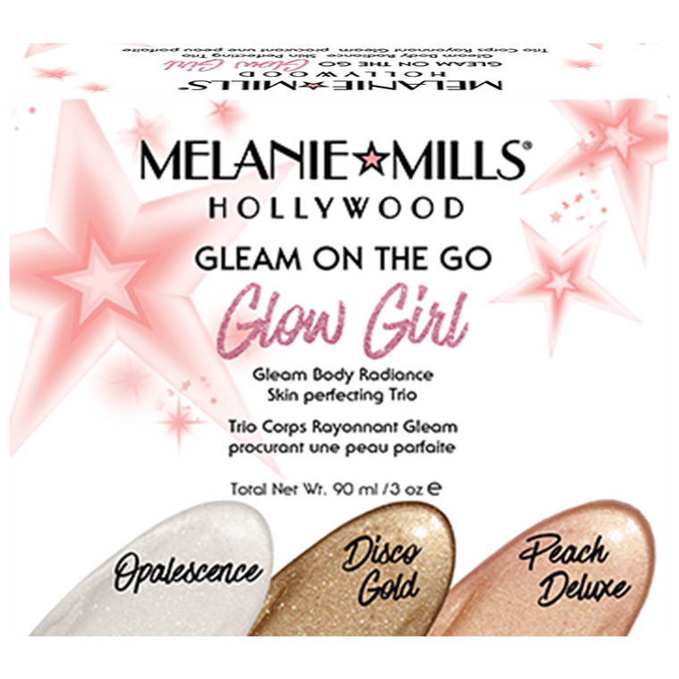 Melanie Mills Hollywood Glow Girl Gleam on the Go Body Radiance Kit