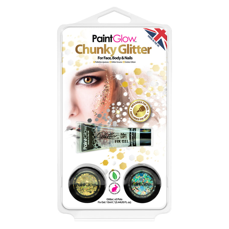 PaintGlow Chunky Loose Glitter for Face, Body and Hair