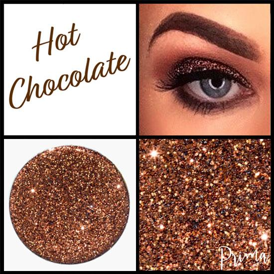 Prima Makeup Pressed Glitter Multi-Tonal Brown Eyeshadow  - Hot Chocolate