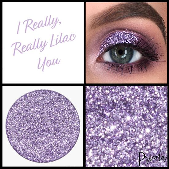 Prima Makeup Pressed Lilac Glitter Multi-Tonal Eyeshadow  - I Really, Really Lilac You
