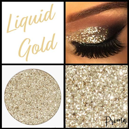Prima Makeup Pressed Glitter Multi-Tonal Gold Eyeshadow  - Liquid Gold