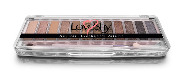 LoveShy Cosmetics Neutral 12 Shade Eyeshadow Palette