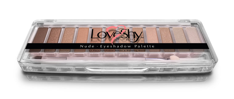 LoveShy Cosmetics Nude 12 Shade Eyeshadow Palette