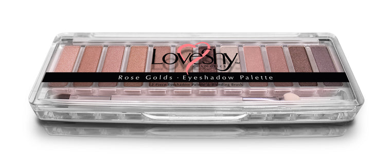 LoveShy Cosmetics Rose Gold 12 Shade Eyeshadow Palette