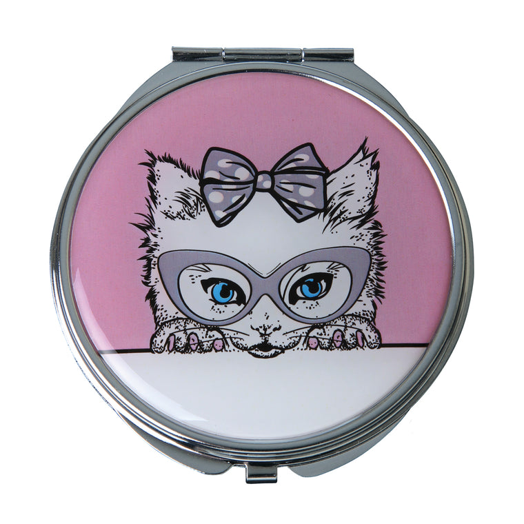 Fancy Metal Goods 'Cutie' Cat Mirror Compact Collection