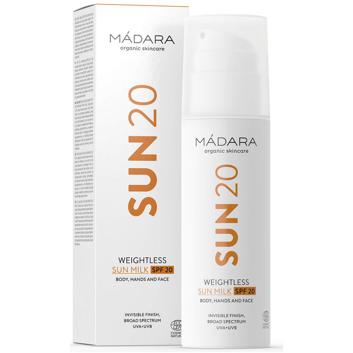 Madara Organic Skincare SUN20 Weightless Milk SPF20