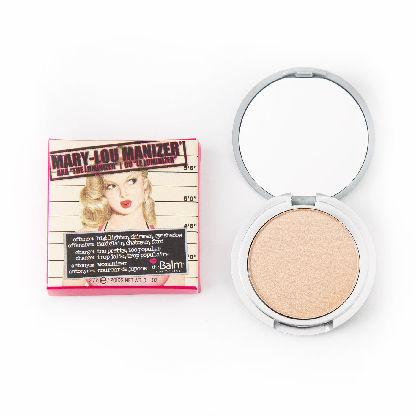 theBalm Mary Lou Manizer Shimmer Highlighter - Champagne - Travel Size