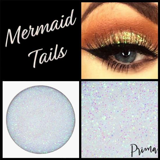 Prima Makeup Pressed Glitter Multi-Tonal Iridescent White Eyeshadow  - Mermaid Tails