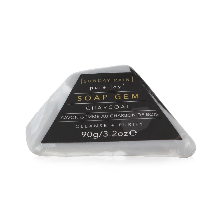 Sunday Rain Gem Soap Charcoal, 90g