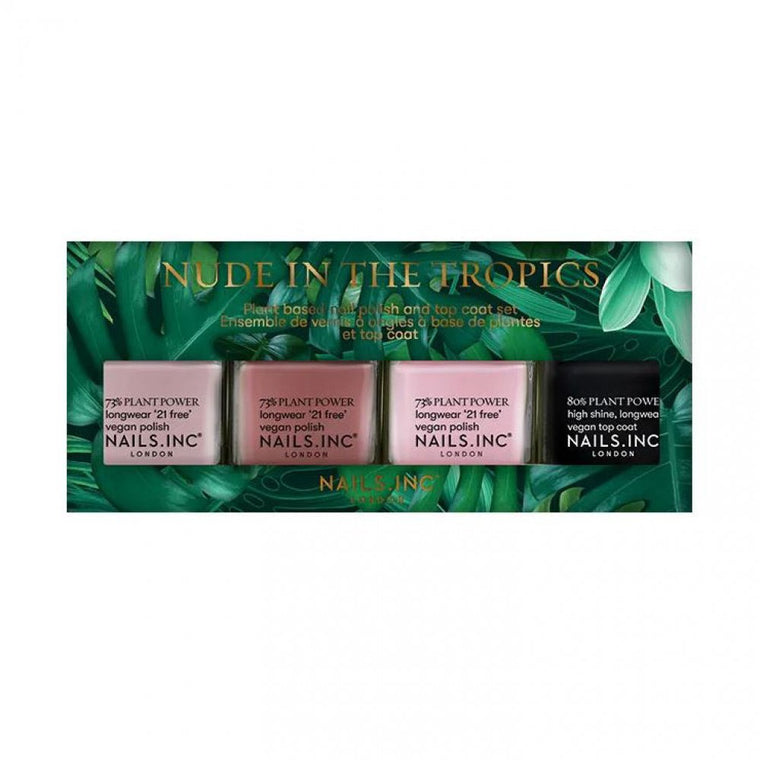 Nails Inc. Nude In The Tropics Plant Based Vegan Nail Collection