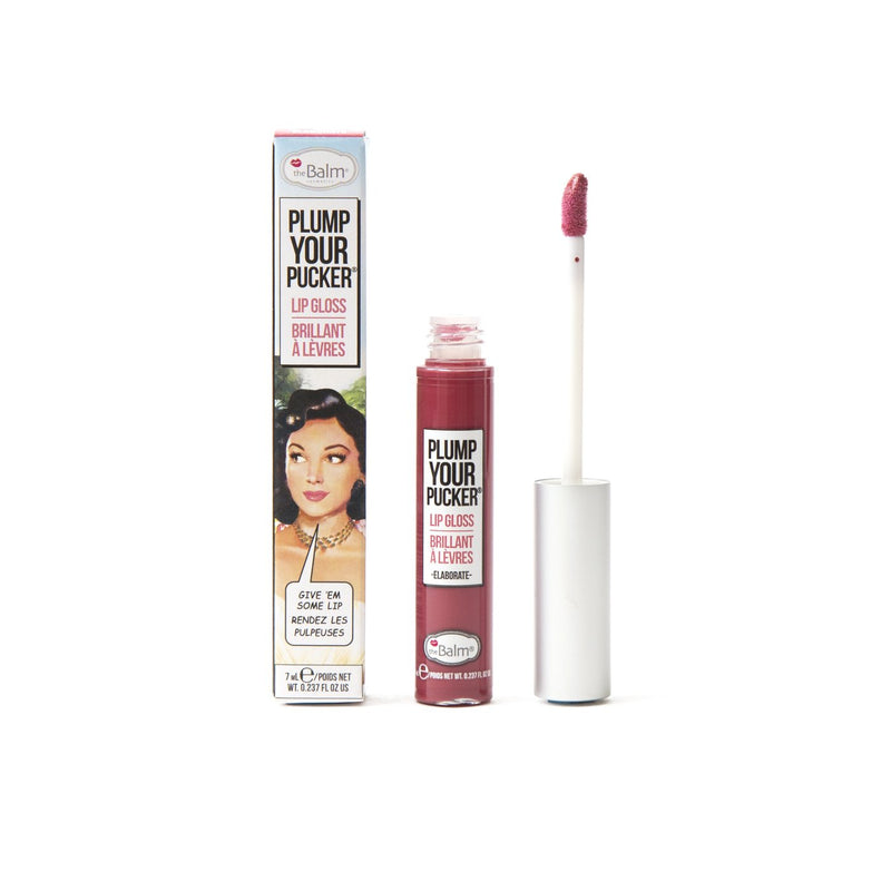 theBalm cosmetics PLUMP YOUR PUCKER® Lip Gloss Elaborate - opaque warm rose