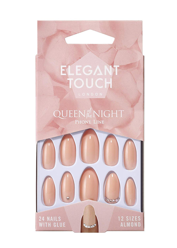 Elegant Touch Queen Of The Night False Nail - Phone Line