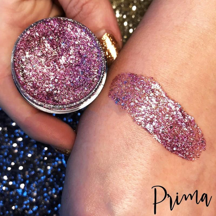 Prima Makeup Holographic Glitter Paste - Chameleon Collection - Pretty in Pink