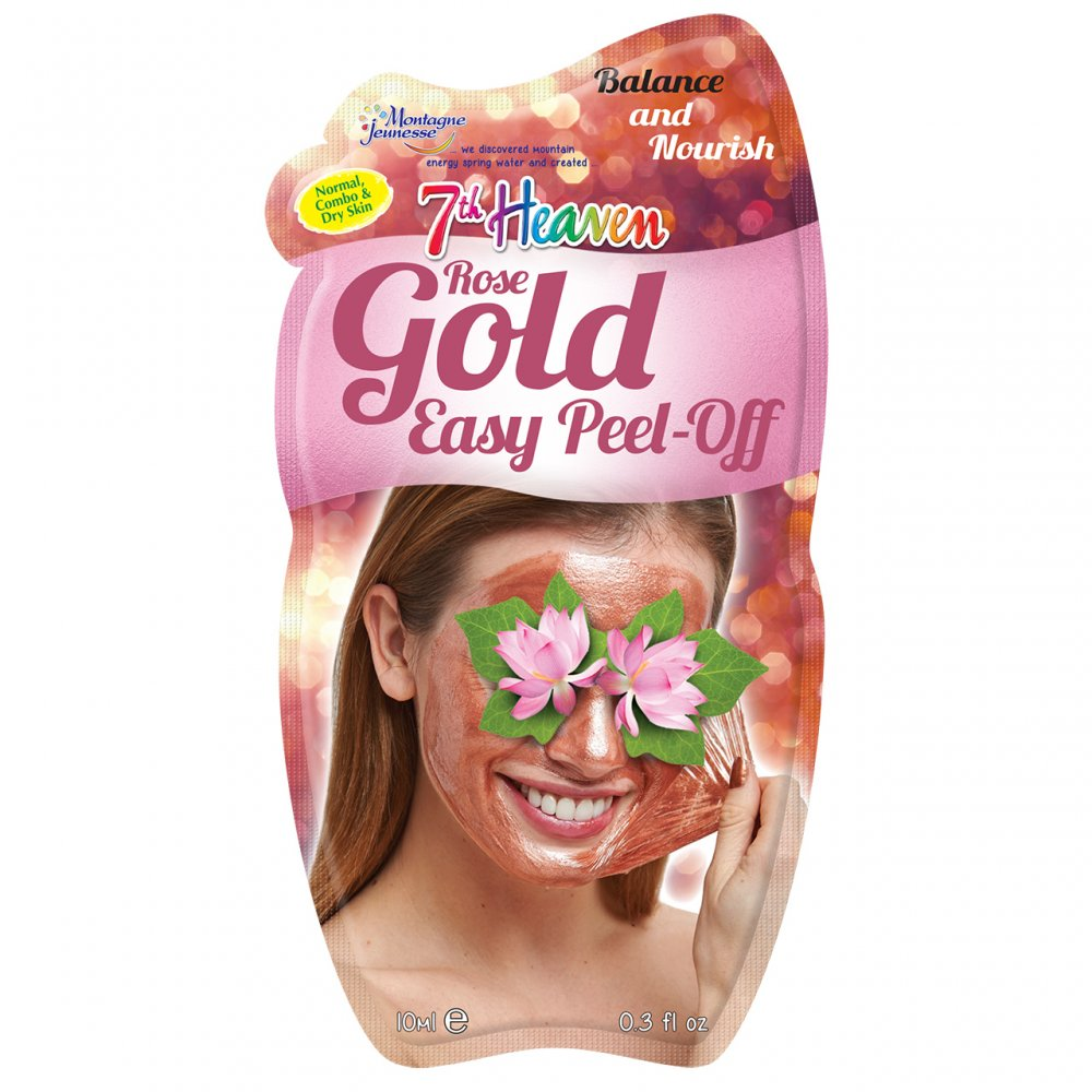 7th Heaven Rose Gold Easy Peel-Off Face Mask, 10ml