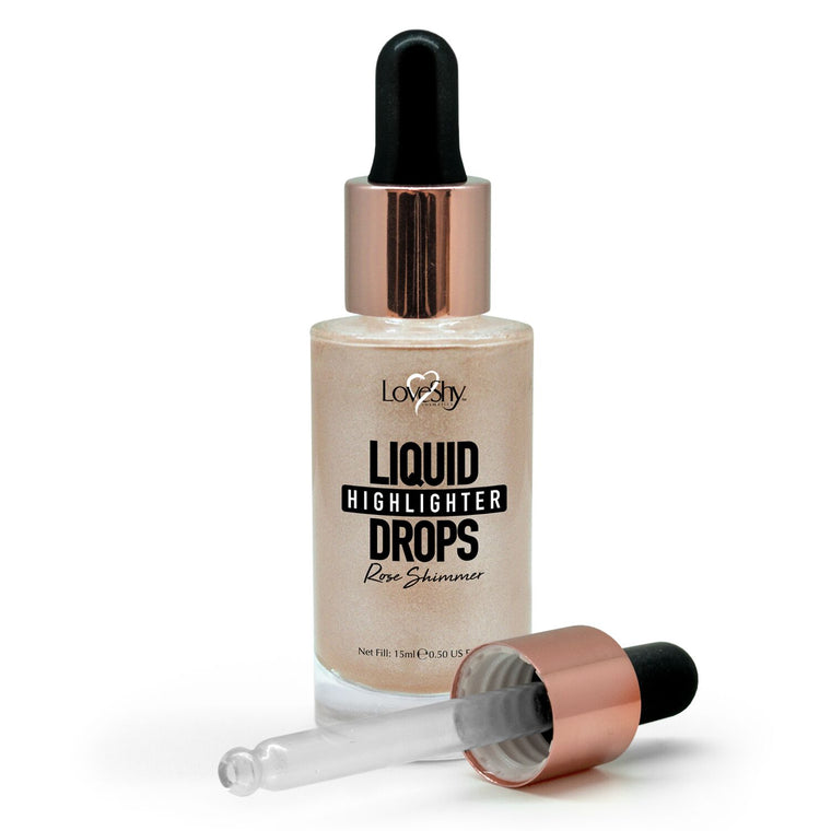 LoveShy Cosmetics Vegan Liquid Highlighter Drops, 15ml
