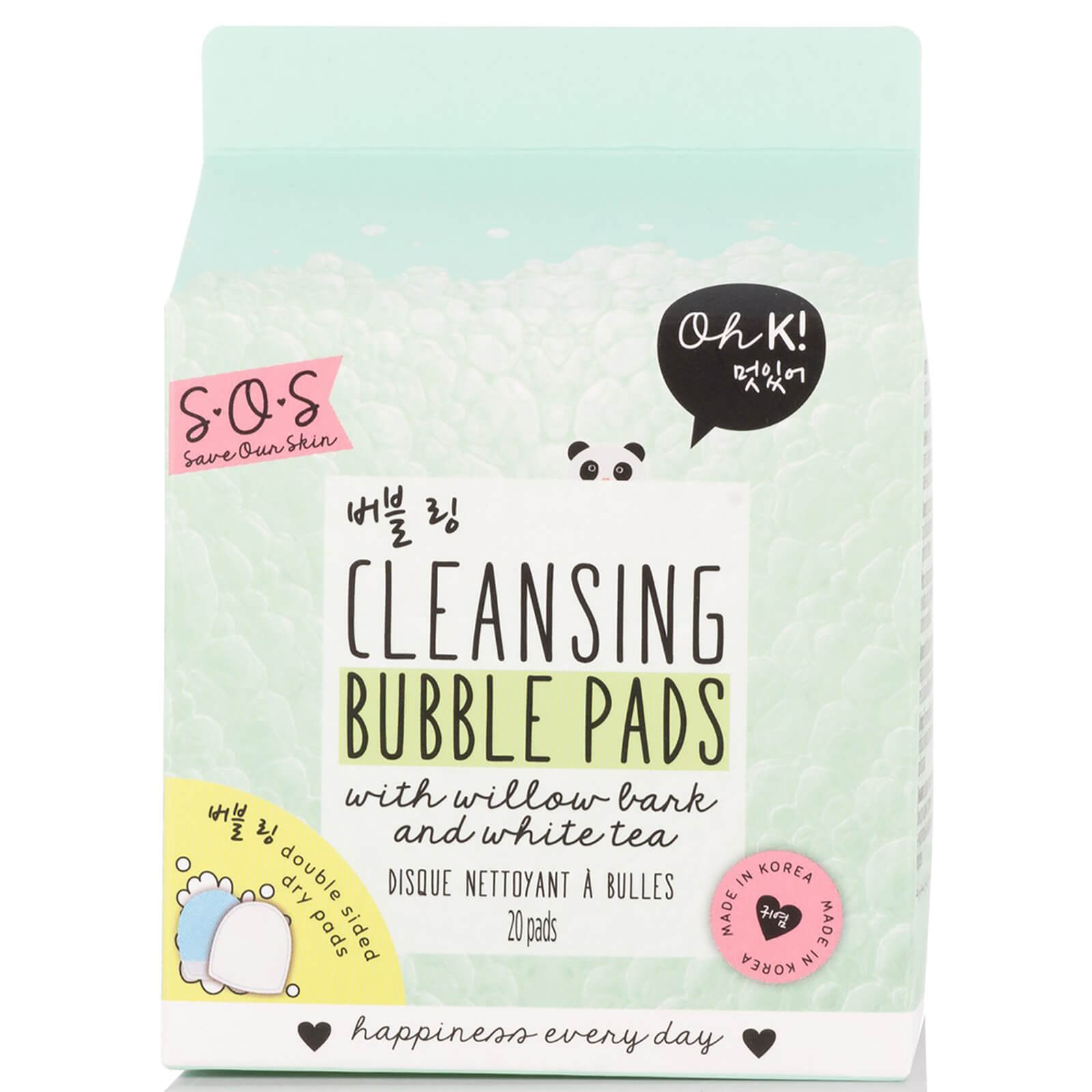 Oh K! SOS Cleansing Bubble Pads, 20 Pads