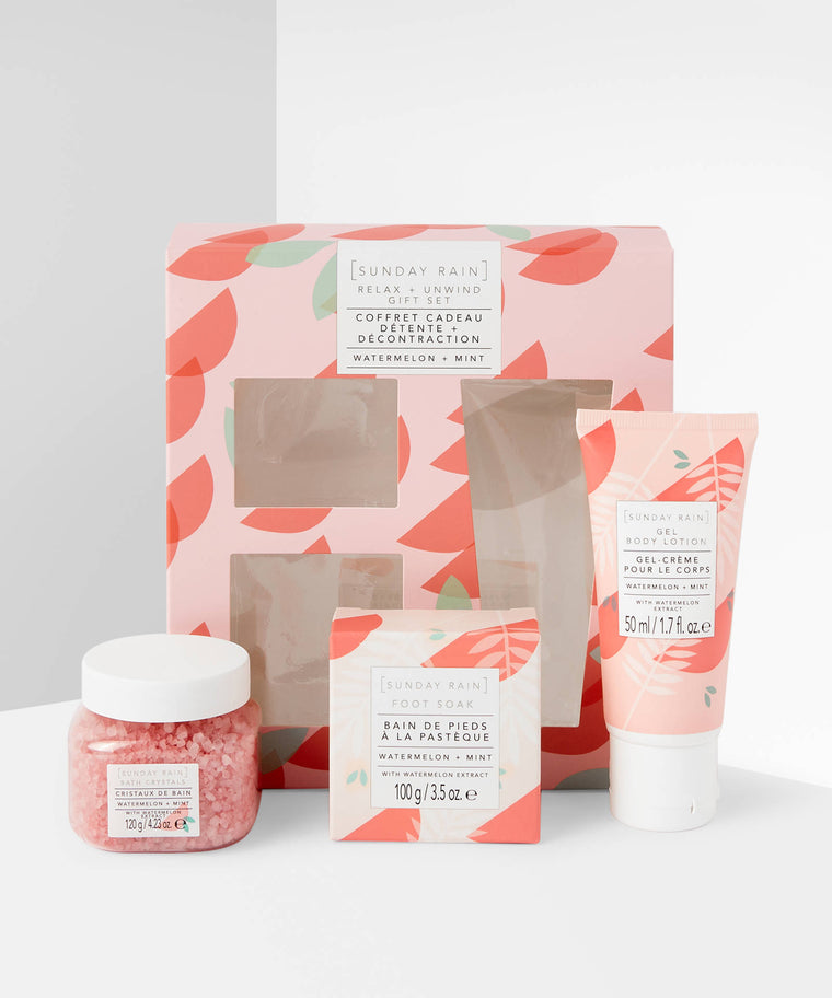 Sunday Rain Watermelon & Mint Relax & Unwind Gift Set