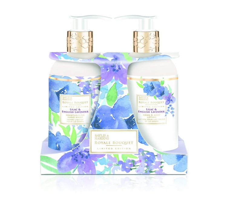 Baylis & Harding Royale Bouquet Lilac and English Lavender Twinset