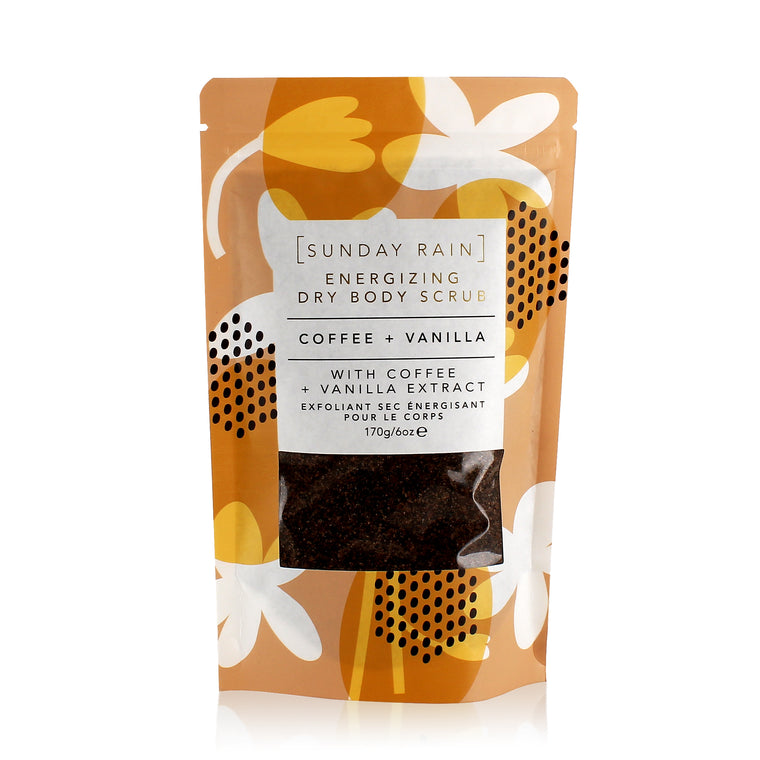 Sunday Rain Coffee and Vanilla Energizing Dry Body Scrub, 170g