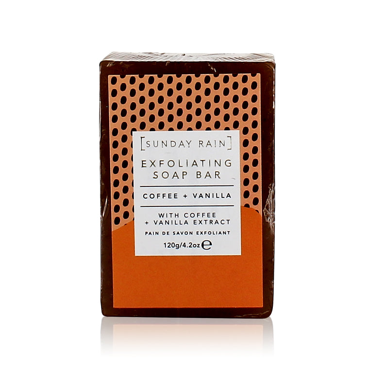 Sunday Rain Coffee and Vanilla Exfoliating Bar Soap, 142g