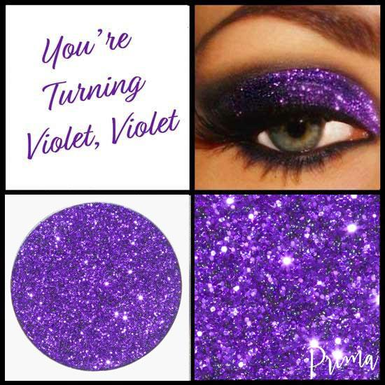 Prima Makeup Pressed Glitter Violet Purple Eyeshadows  - You're Turning Violet