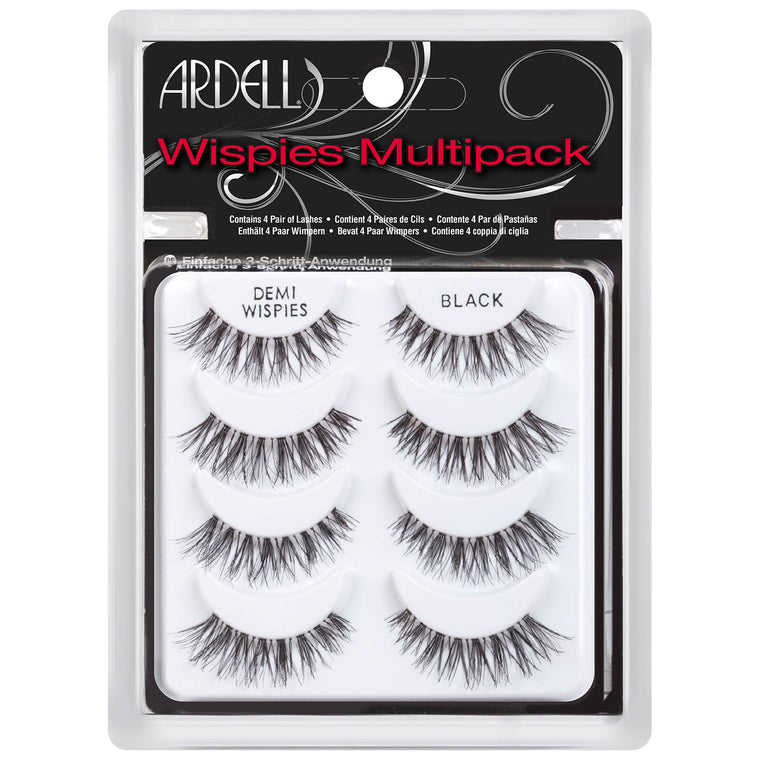 Ardell Wispies Demi Wispies Black Lashes - 4 Pack