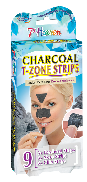 7th Heaven Women's Charcoal T-Zone Strips