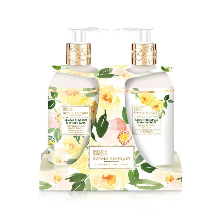 Baylis and Harding Royal Bouquet Lemon Blossom & White Rose Twin Set