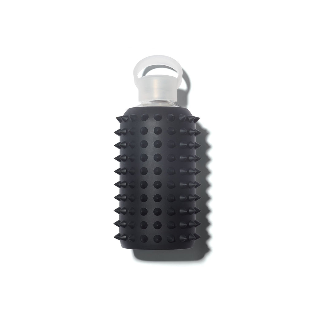 bkr the Original Glass Water Bottle - Jet - Spiked - 1000ml