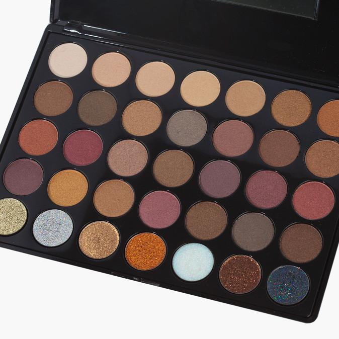Prima Makeup Shade and Sparkle Eyeshadow and Glitter Palette - Bronzed Babe