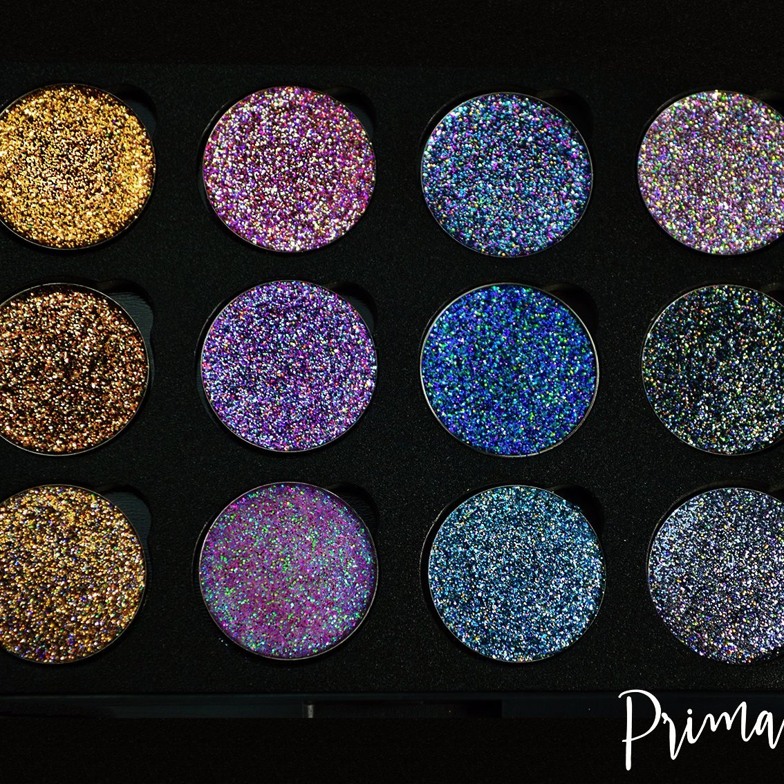 Prima Makeup Colour Shifting Pressed Glitter Eyeshadow Lips Set - Chameleon Collection