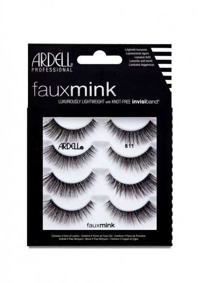 Ardell Faux Minx 811 False Lashes, Pack of 4