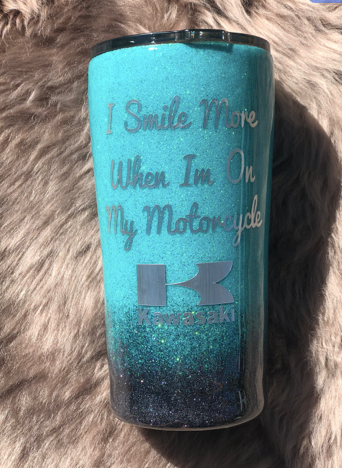 I smile more on my motorcycle Tumbler