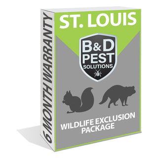 St. Louis 6 Month Wildlife Exclusion Package (Includes Raccoons & Squirrels)