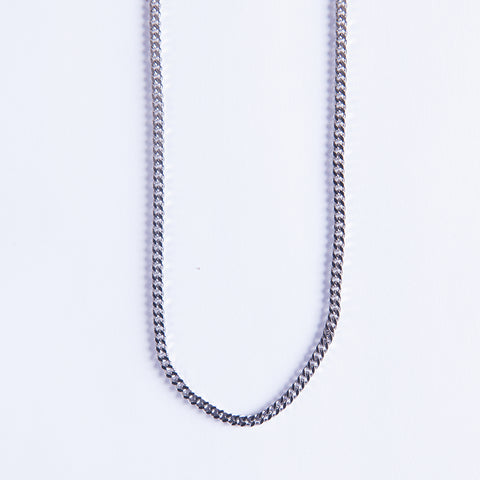 Silver Cuban Chain 3mm - Gold plated uk